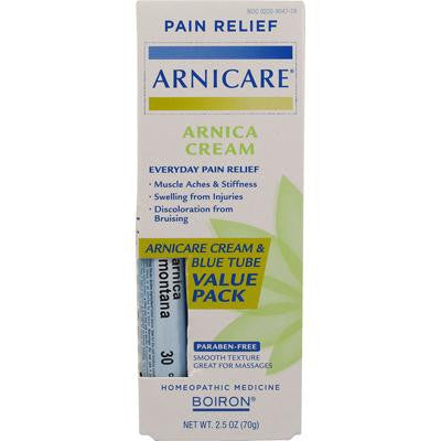 Picture of Boiron Arnicare Cream Value Pack with 30 C Blue Tube - 2.5 oz