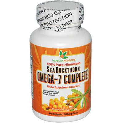 Picture of Seabuck Wonders Sea Buckthorn Omega 7 Complete - 500 mg - 60 Softgels