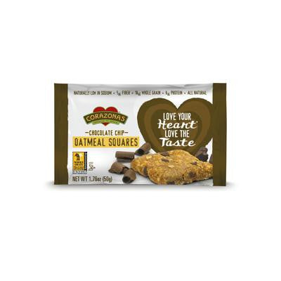 Picture of Corazonas Oatmeal Squares - Chocolate Chip - Case of 12 - 1.76 oz