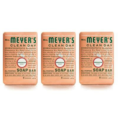Picture of Mrs. Meyer's Bar Soap - Geranium - Case of 12 - 8 oz