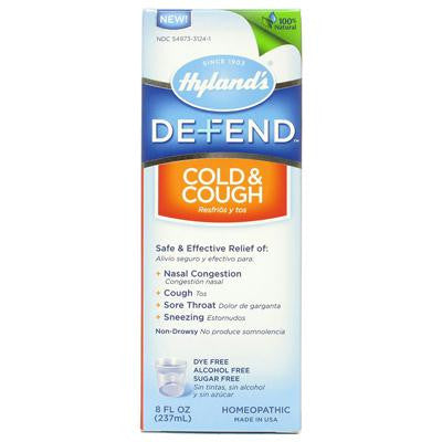Picture of Hyland's Defend Cold and Cough - 8 fl oz