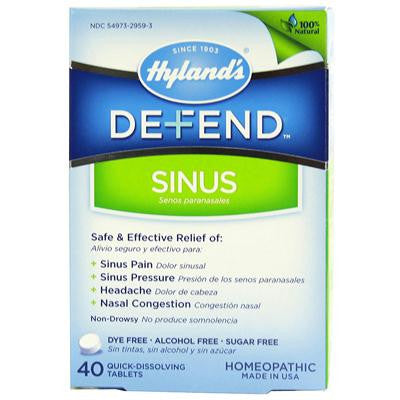 Picture of Hyland's Defend Sinus - 40 Quick-DissolvingTablets