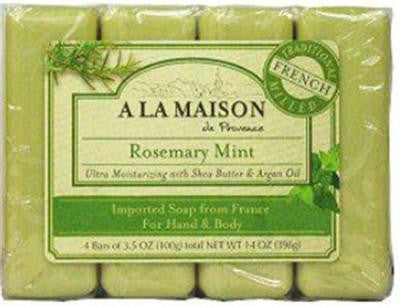 Picture of A La Maison Bar Soap - Rosemary Mint - Value 4 Pack