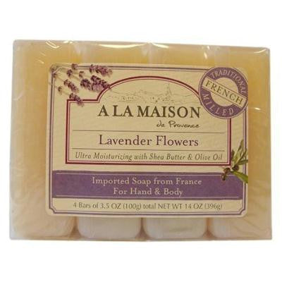 Picture of A La Maison Bar Soap - Lavender Flower - Value 4 Pack