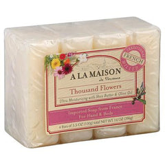 A La Maison Bar Soap - Thousand Flowers - Value 4 Pack