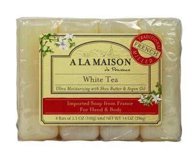 Picture of A La Maison Bar Soap - White Tea - Value 4 Pack