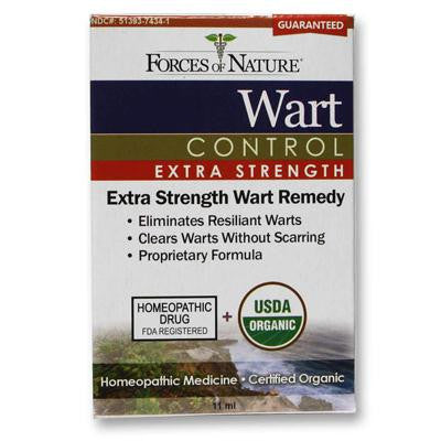 Picture of Forces of Nature Organic Wart Control - Extra Strength - 11 ml