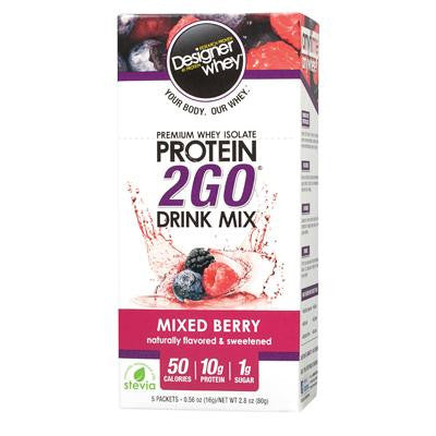 Picture of Designer Whey Protein To Go Packets - Berry - 5 Packets