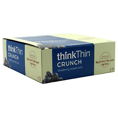 Picture of Think Products thinkThin Crunch Bar - Crunch Blueberry Mixed Nuts - 1.41 oz - Case of 10