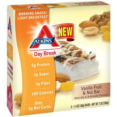 Picture of Atkins Day Break Bar - Vanilla Fruit - 5 Bars