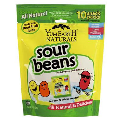 Picture of Yummy Earth Naturals Sour Jelly Beans Snack Packs - 10 Packs