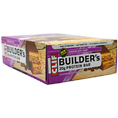 Clif Bar Builder Bar - Chocolate Chip - Case of 12 - 2.4 oz