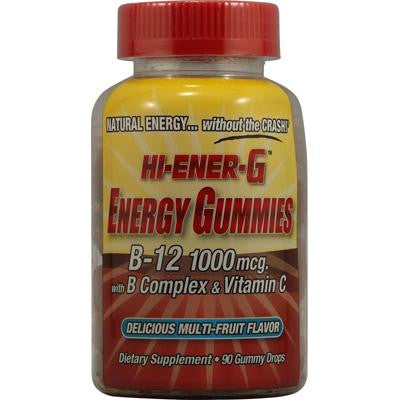 Picture of Windmill Health Products Hi-Ener-G Gummies B-12 with B Complex and Vitamin C Multi-Fruit - 90 Gummy Drops