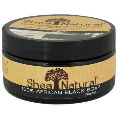 Picture of Shea Natural African Black Soap with Shea Butter - 8 oz