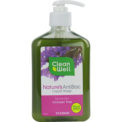 Picture of CleanWell Nature's AntiBac Liquid Soap Lavender - 12 fl oz