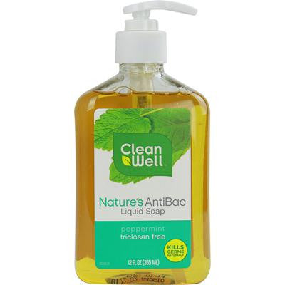 Picture of CleanWell Nature's AntiBac Liquid Soap Peppermint - 12 fl oz