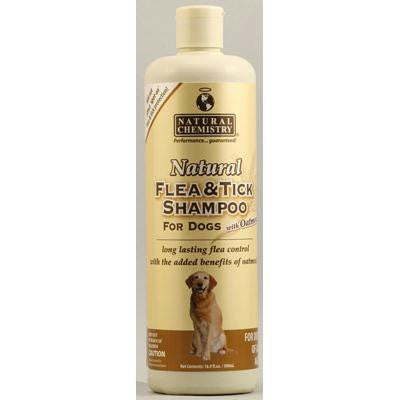 Picture of Natural Chemistry Natural Flea and Tick Shampoo for Dogs with Oatmeal - 16.9 fl oz