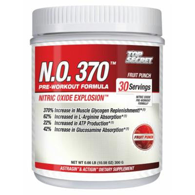 Picture of Top Secret Nutrition N.O. 370 Pre Workout Formula Fruit Punch - 300 g