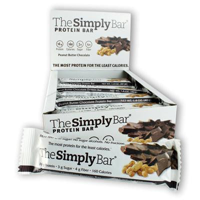 Picture of The Simply Bar Protein Bar - Peanut Butter and Chocolate - Case of 15 - 1.4 oz