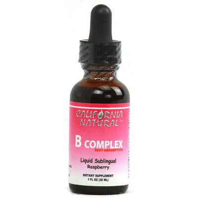 Picture of California Natural Natural B Complex Sublingual Raspberry - 1 fl oz