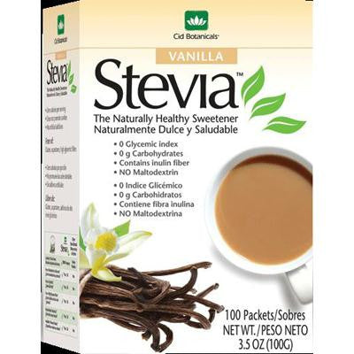 Picture of Cid Botanicals Stevia Vanilla Packets - 3.5 oz
