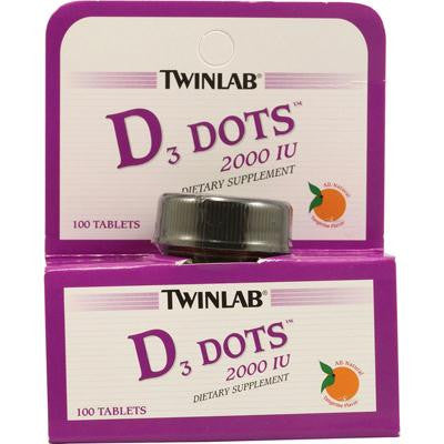 Picture of Twinlab D3 Dots Tangerine - 2000 IU - 100 Tablets