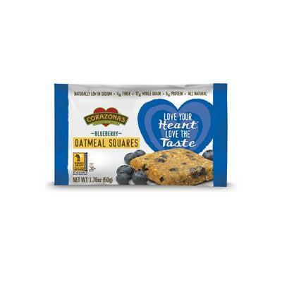 Picture of Corazonas Oatmeal Squares - Blueberry - Case of 12 - 1.76 oz