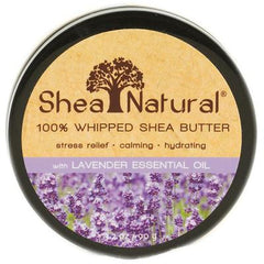Shea Natural 100% Whipped Shea Butter Essential Oil Lavender - 3.2 oz