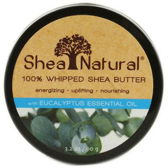 Shea Natural 100% Whipped Shea Butter with Eucalyptus Essential Oil - 3.2 oz