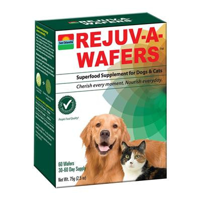 Picture of Sun Chlorella Rejuv-A-Wafers Superfood Supplement for Dogs and Cats - 60 Wafers