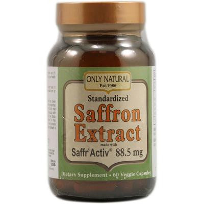 Picture of Only Natural Saffron Extract - 88.5 mg - 60 Vegetable Capsules