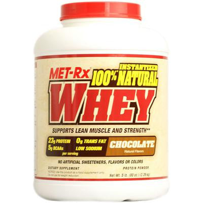 Picture of Met-Rx Instantized 100% Natural Whey Powder Chocolate - 5 lbs
