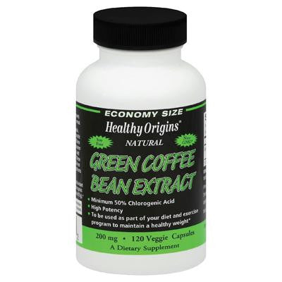 Picture of Healthy Origins Green Coffee Bean Extract - 120 Vcaps