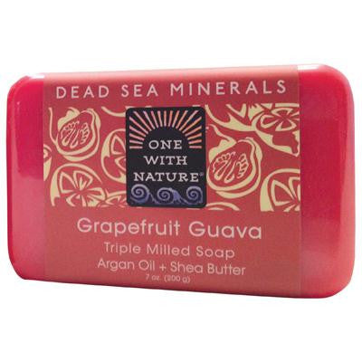 Picture of One With Nature Triple Milled Soap Bar - Grapefruit Guava - 7 oz