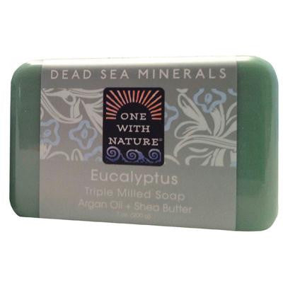 Picture of One With Nature Triple Milled Soap Bar - Eucalyptus - 7 oz