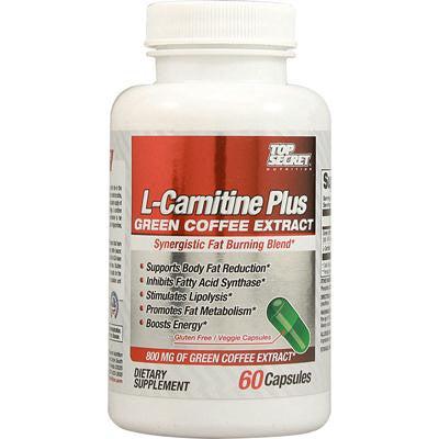 Picture of Top Secret Nutrition L-Carnitine Plus Green Coffee Extract - 60 Capsules
