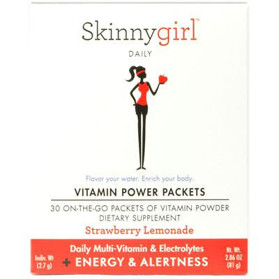 Picture of Skinnygirl Daily Multi-Vitamin Packets plus Energy and Alertness Strawberry Lemonade - 30 Packets