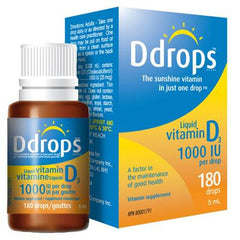 D Drops Vitamin D Drops 1000 IU - 180 Drops - .17 oz