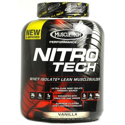 Picture of MuscleTech Nitro-Tech Performance Series Vanilla - 4 lbs