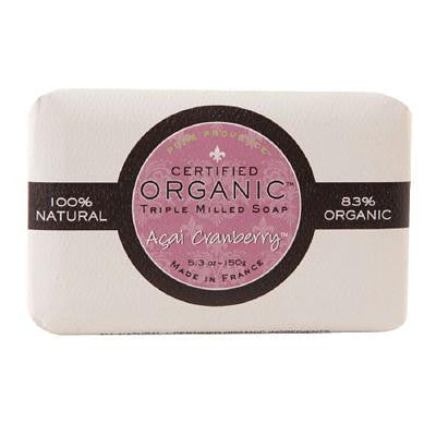 Picture of Pure Provence Bar Soap - Organic Acai Cranberry - 5.3 oz