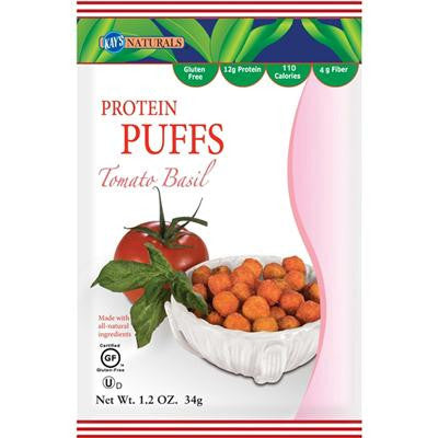 Picture of Kay's Naturals Protein Puffs - Tomato Basil - Case of 6 - 1.2 oz