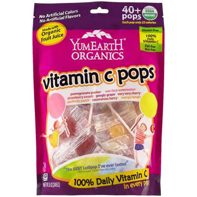 Picture of Yummy Earth Organic Vitamin C Lollipops- Over 40 Pops