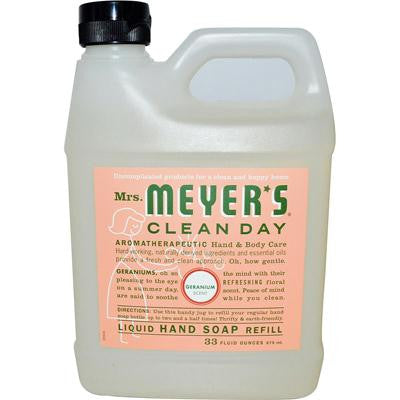 Picture of Mrs. Meyer's Liquid Hand Soap Refill - Geranium - 33 lf oz - Case of 6