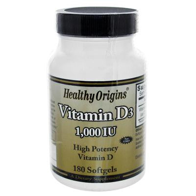 Picture of Healthy Origins Vitamin D3 - 1000 IU - 180 softgels