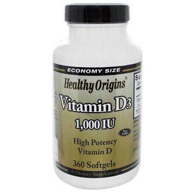 Picture of Healthy Origins Vitamin D3 - 1000 IU - 360 softgels