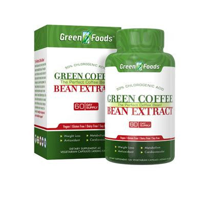 Picture of Green Foods Green Coffee Bean Extract - 120 capsules