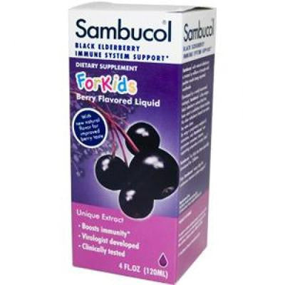 Picture of Sambucol Night Time Cold and Flu - Elderberry - 4 fl oz