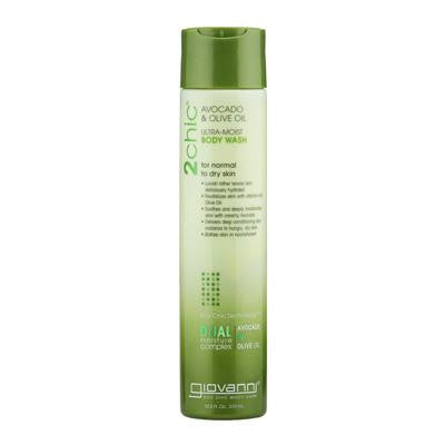 Picture of Giovanni Hair Care Products 2chic Body Wash - Ultra-Moist Avocado and Olive - 10.5 fl oz