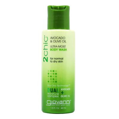 Picture of Giovanni Hair Care Products 2chic Body Wash - Ultra-Moist Avocado and Olive - 1.5 fl oz