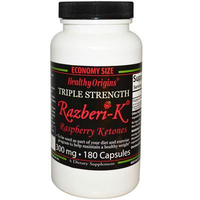Picture of Healthy Origins Raspberry Ketones - 300 mg - 180 Ct